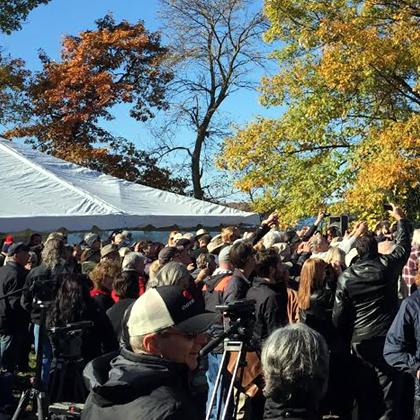 Golden Leaves, press & the public.jpg