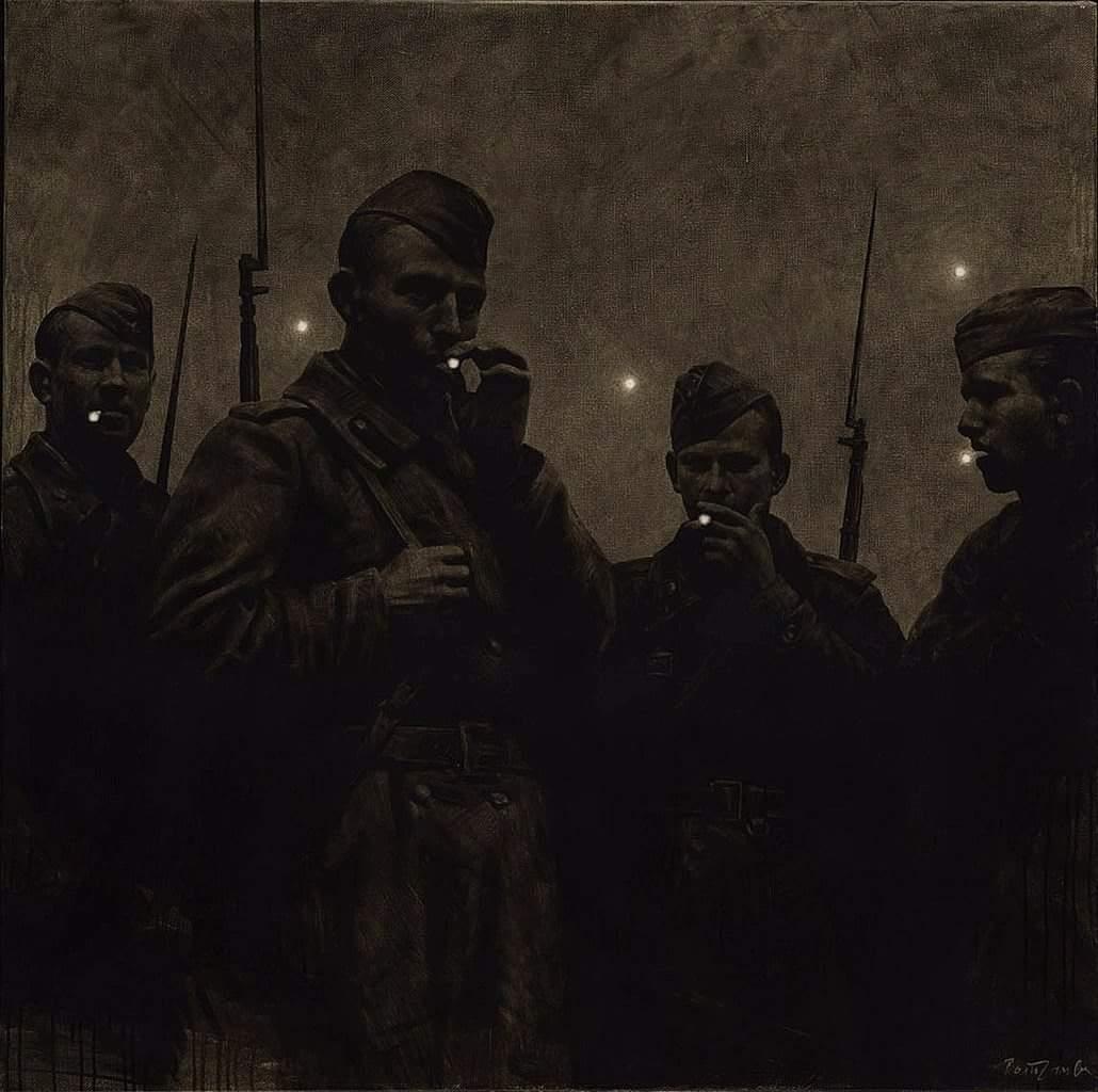 Rinat Voligamsi (Russian, b. 1968), Dusk. Ursa Major, 2010. Oil on canvas, 100 x 100 cm.jpg